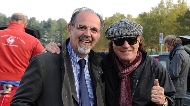 Giorgio Gianuzzi con Brian Johnson