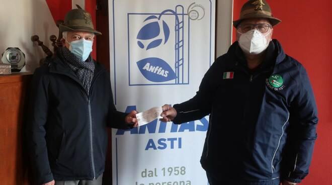 stanza abbracci donata all'Anfass da Alpini Asti