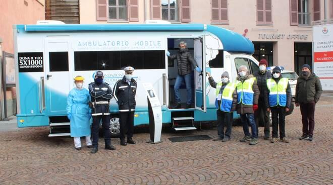 Alba: tampone rapido per la Polizia locale sull'ambulatorio mobile