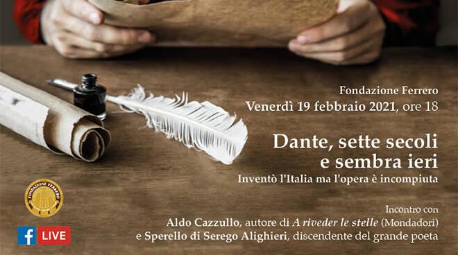 """Dalla Fondazione Ferrero la conferenza su """"Dante, sette secoli e sembra ieri"""""""