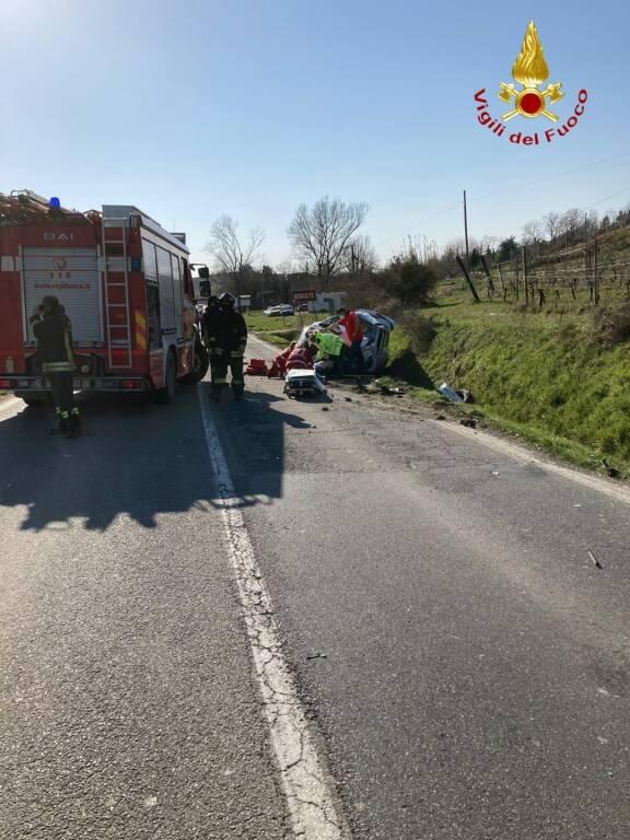 incidente stradale moncalvo e penango