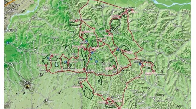 rete romanica di collina