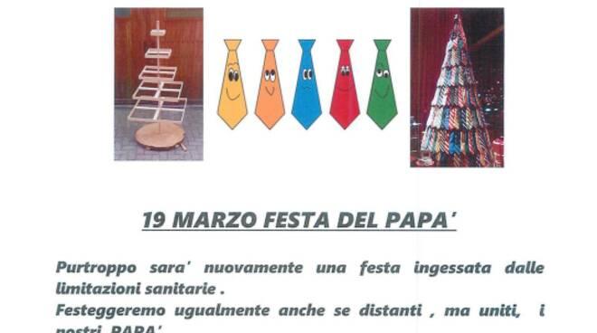 Mombello Monferrato, l\'Albero delle cravatte per la Festa del Papà