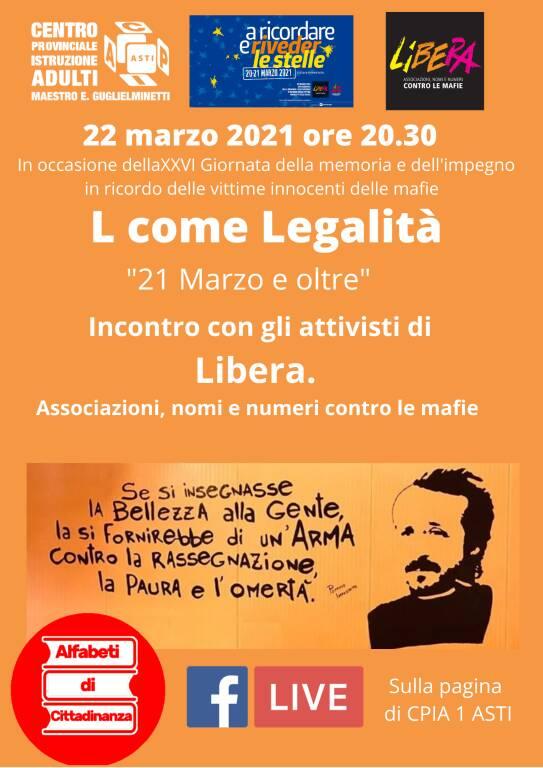 CPIA Asti, Alfabeti di Cittadinanza ospiterà i volontari di Libera Asti