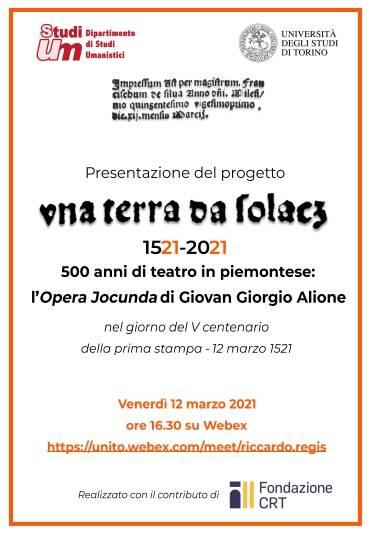 L'Università degli Studi di Torino presenta online il progetto