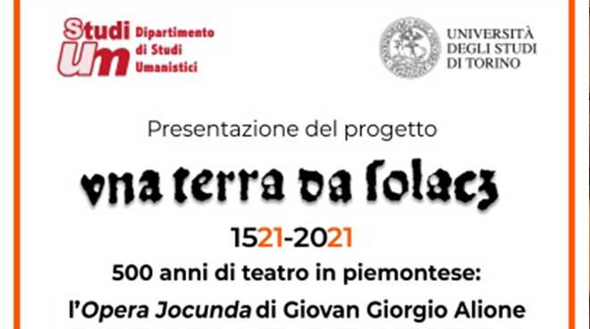 """L'Università degli Studi di Torino presenta online il progetto """"Una terra da solacz"""""""
