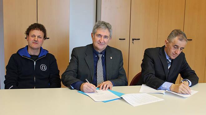 Nella foto di repertorio scattata a febbraio 2020:da sinistra Claudio Piazza, Marco Marcarino e Alberto Negro.
