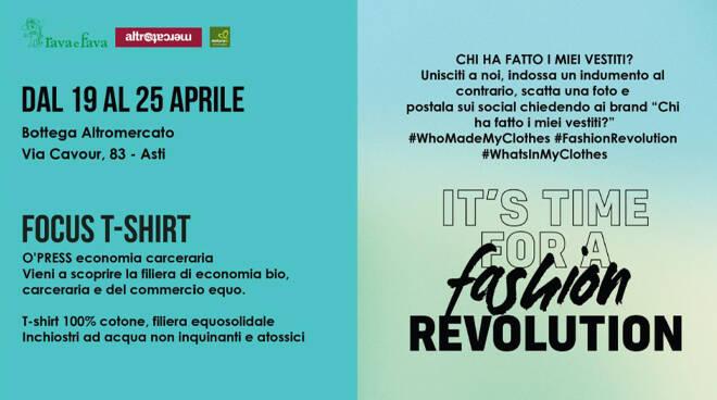"""Asti, Bottega Altromercato presenta """"Fashion Revolution 2021"""""""