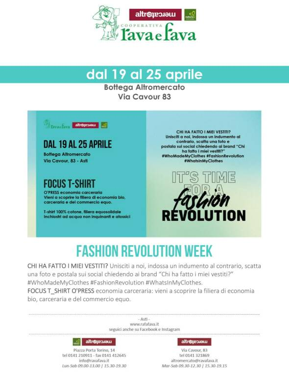 Bottega Rava e Fava, lancio delle nuove magliette sociali O'Press