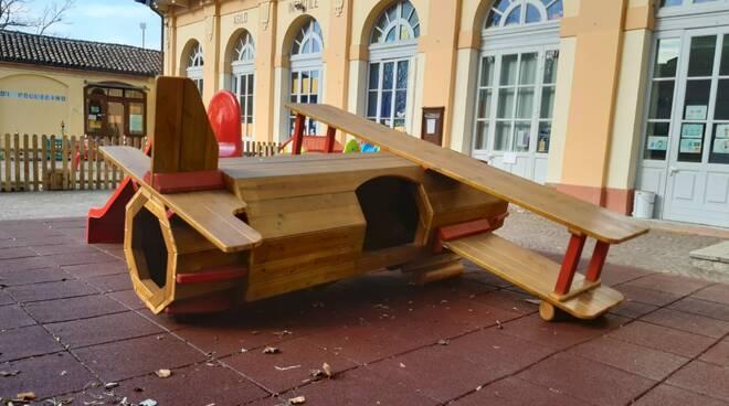 giochi cortile Scuola Materna Statale Ruscone Valle castagnole lanze