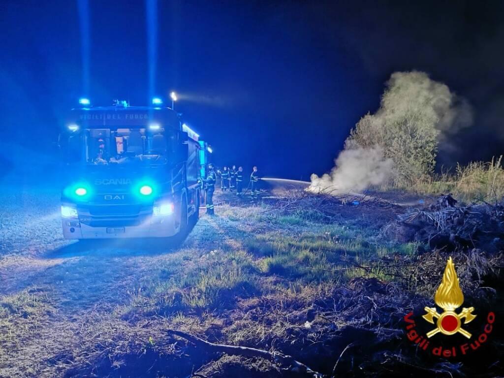 Incendio provinciale Grana Casorzo