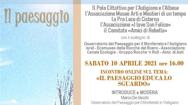 """Polo Cittattiva, Riconessioni_11 riparte con la videoconferenza """"Il paesaggio educa lo sguardo"""""""