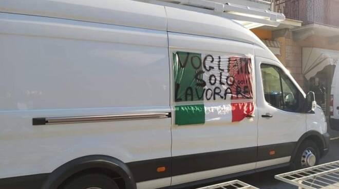 Protesta commercianti Villanova