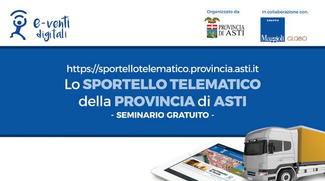Provincia di Asti, novità digitali per gli autotrasportatori