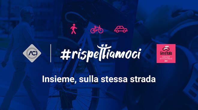 ACI Asti promuove al Giro d'Italia la campagna #rispettiamoci per la sicurezza stradale