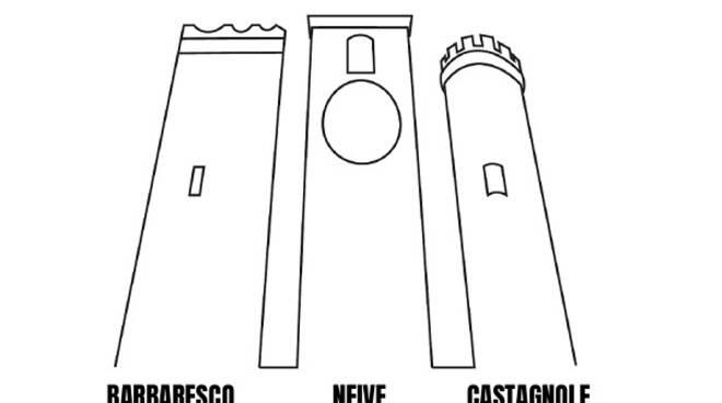 itinerario tre torri castagnole neive barbaresco