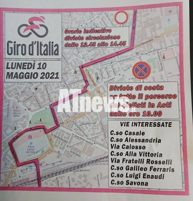 passaggio giro d'italia 2021