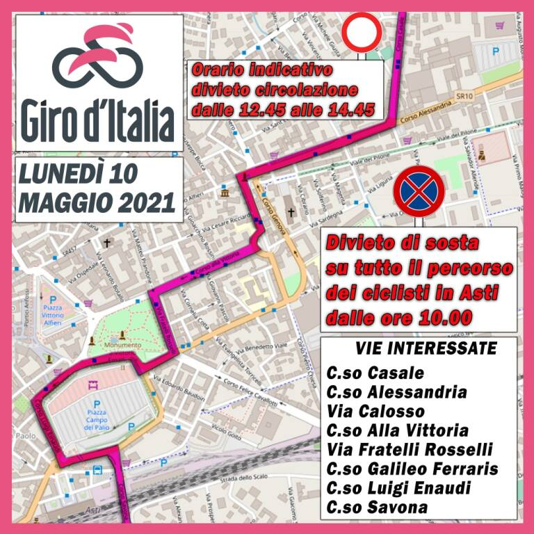 percorso città asti giro italia 2021