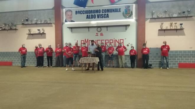 Cerrina, una cerimonia commossa e partecipata per l\'intitolazione ad Aldo Visca del bocciodromo