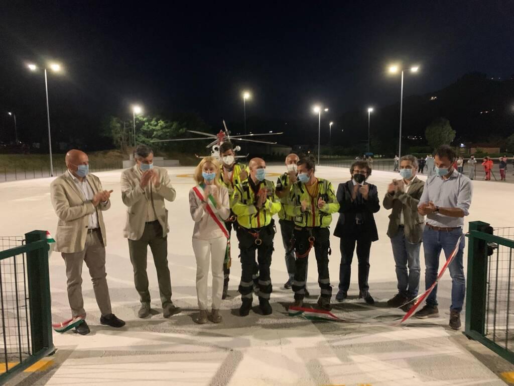 Inaugurazione pista dell'elisoccorso Santo Stefano Belbo