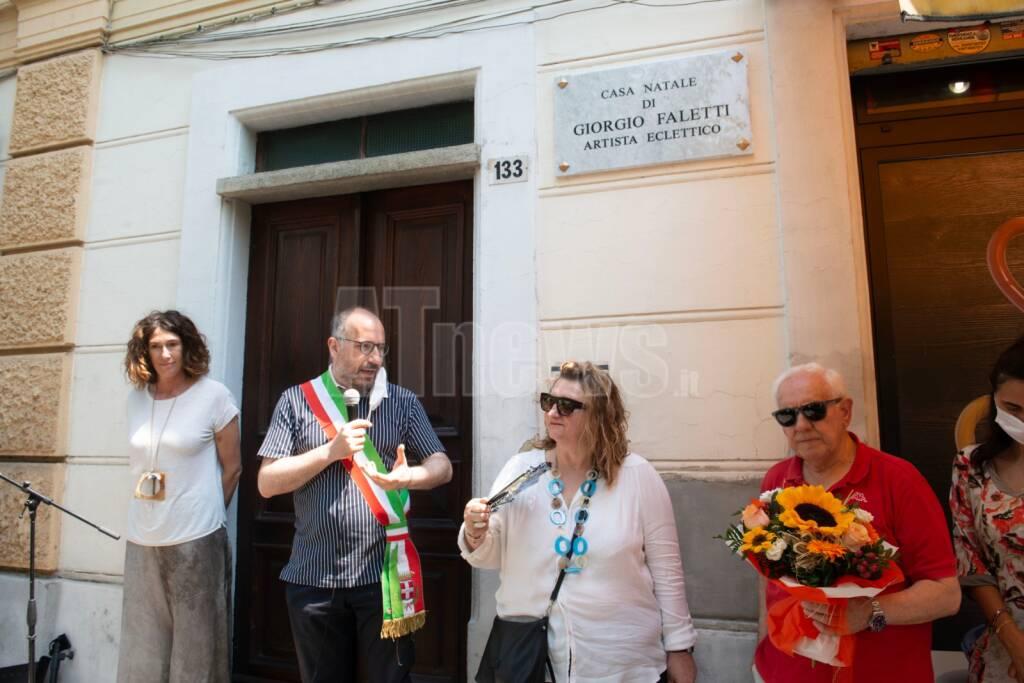 inaugurazione targa giorgio faletti