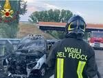 incendio auto a 33