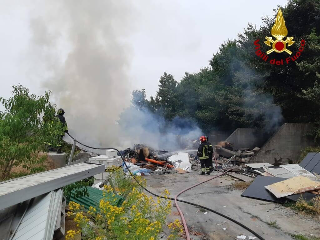 Incendio corso Savona asti