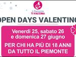 open days valentino 25 26 27 giugno