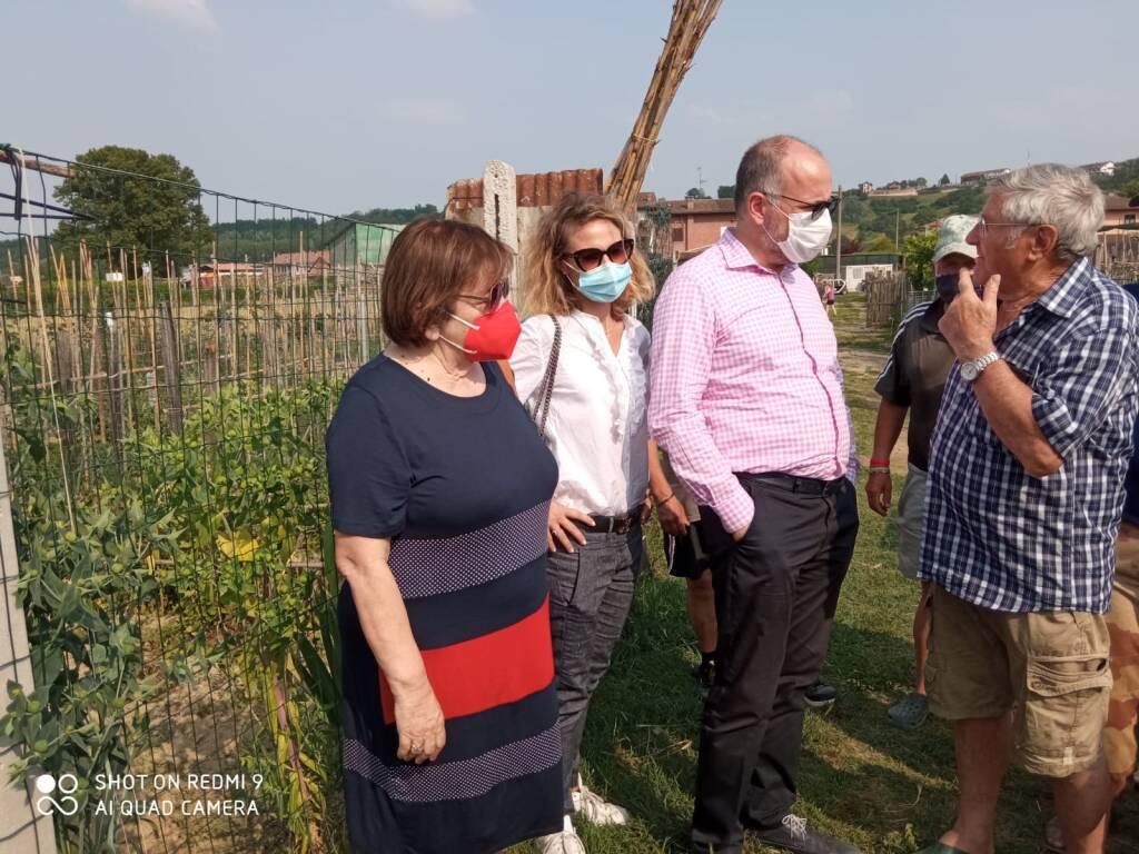 orti sociali zona carretti visita sindaco