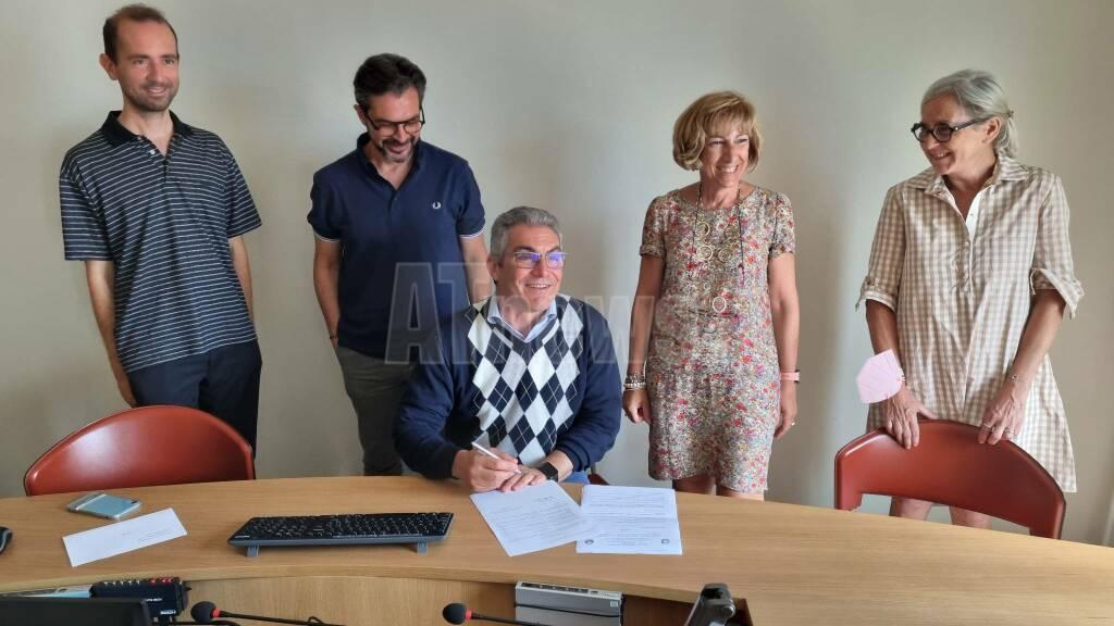 firma convenzione ordine architetti e istituto alfieri