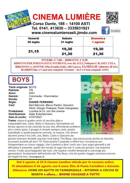 film BOYS lumiere