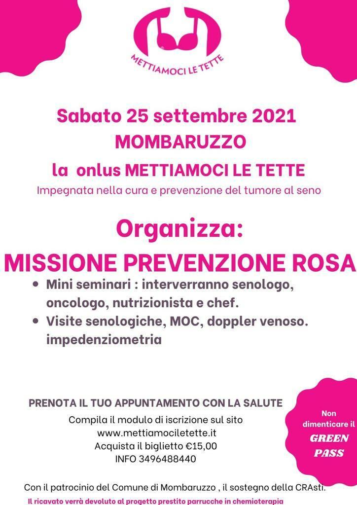 missione prevenzione rosa mombaruzzo